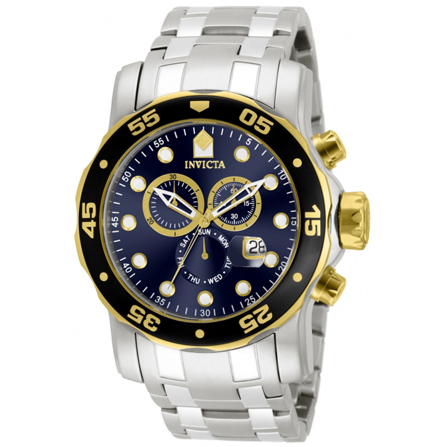 Invicta Men's Speciality 80041 Silver Stainless-Steel Plated Swiss Parts Chronograph Dress Watch