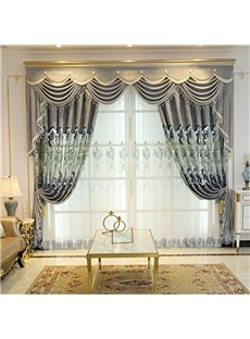 Classic Fine Embroidery Sheer Curtain for Living Room
