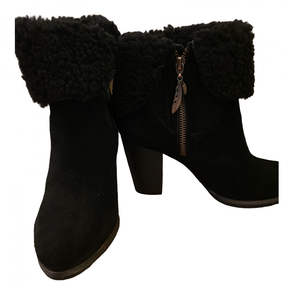 Ugg \N Black Suede Ankle boots for Women 38 EU