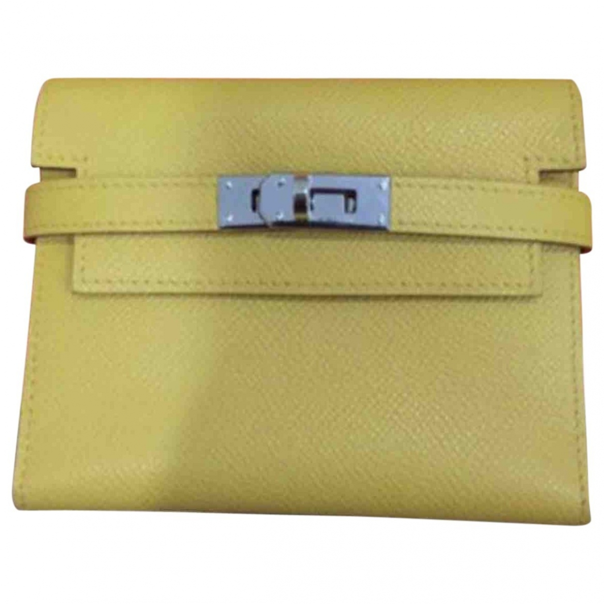 Hermès Kelly Yellow Leather wallet for Women \N