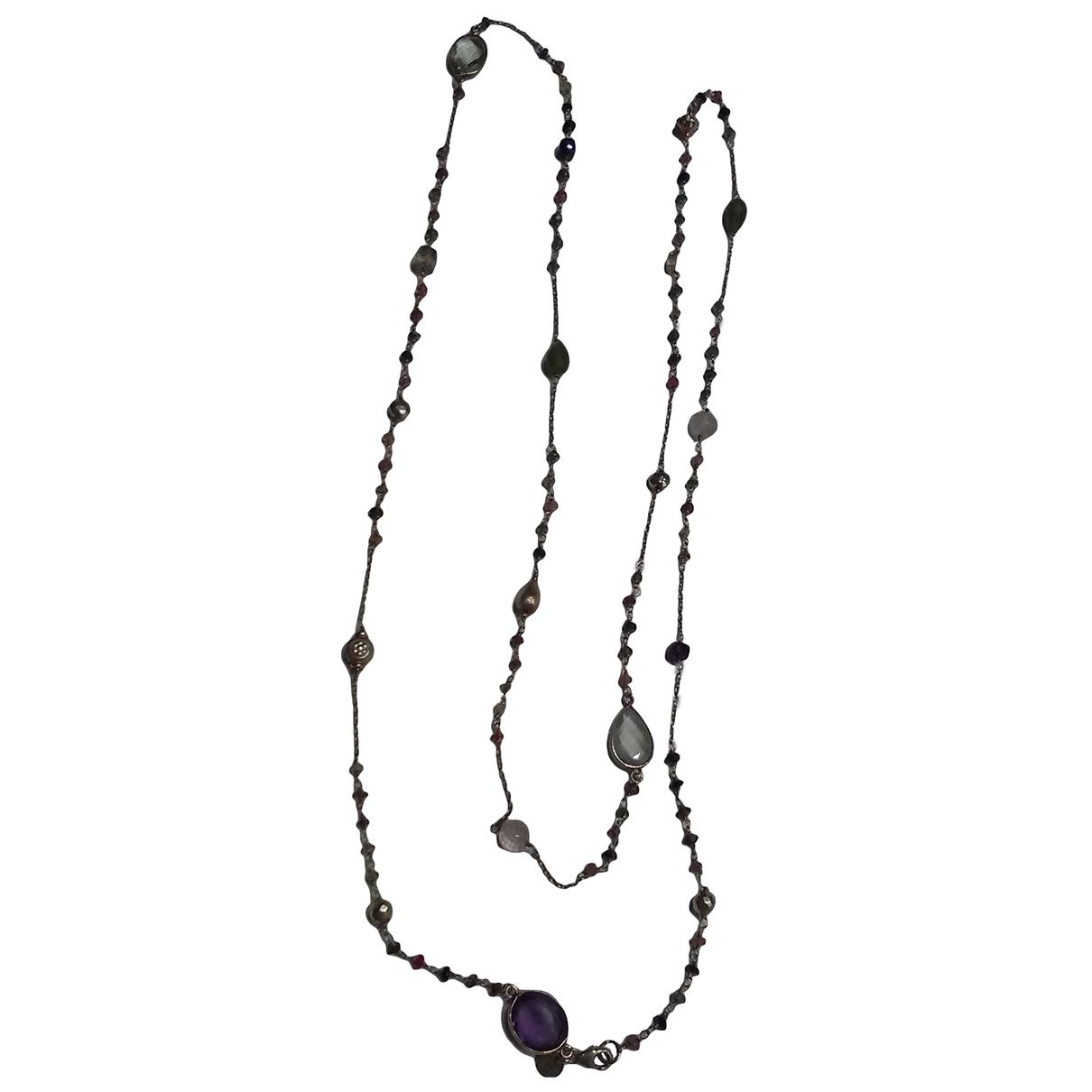 Non Signé / Unsigned Motifs Ethniques Multicolour Silver Gilt necklace for Women \N