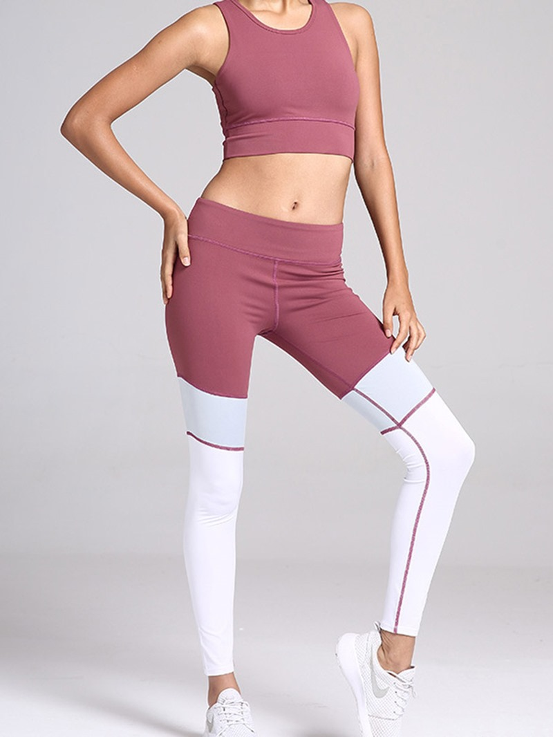 Ericdress Color Block Patchwork Pullover Sleeveless Sports Sets