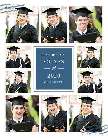 Graduation 11x14 Poster(s), Board, Home Décor -Classy Grid Graduation