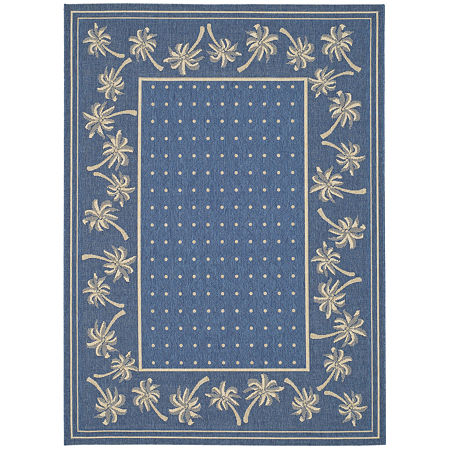 Safavieh Courtyard Collection Moema Floral Indoor/Outdoor Area Rug, One Size , Multiple Colors