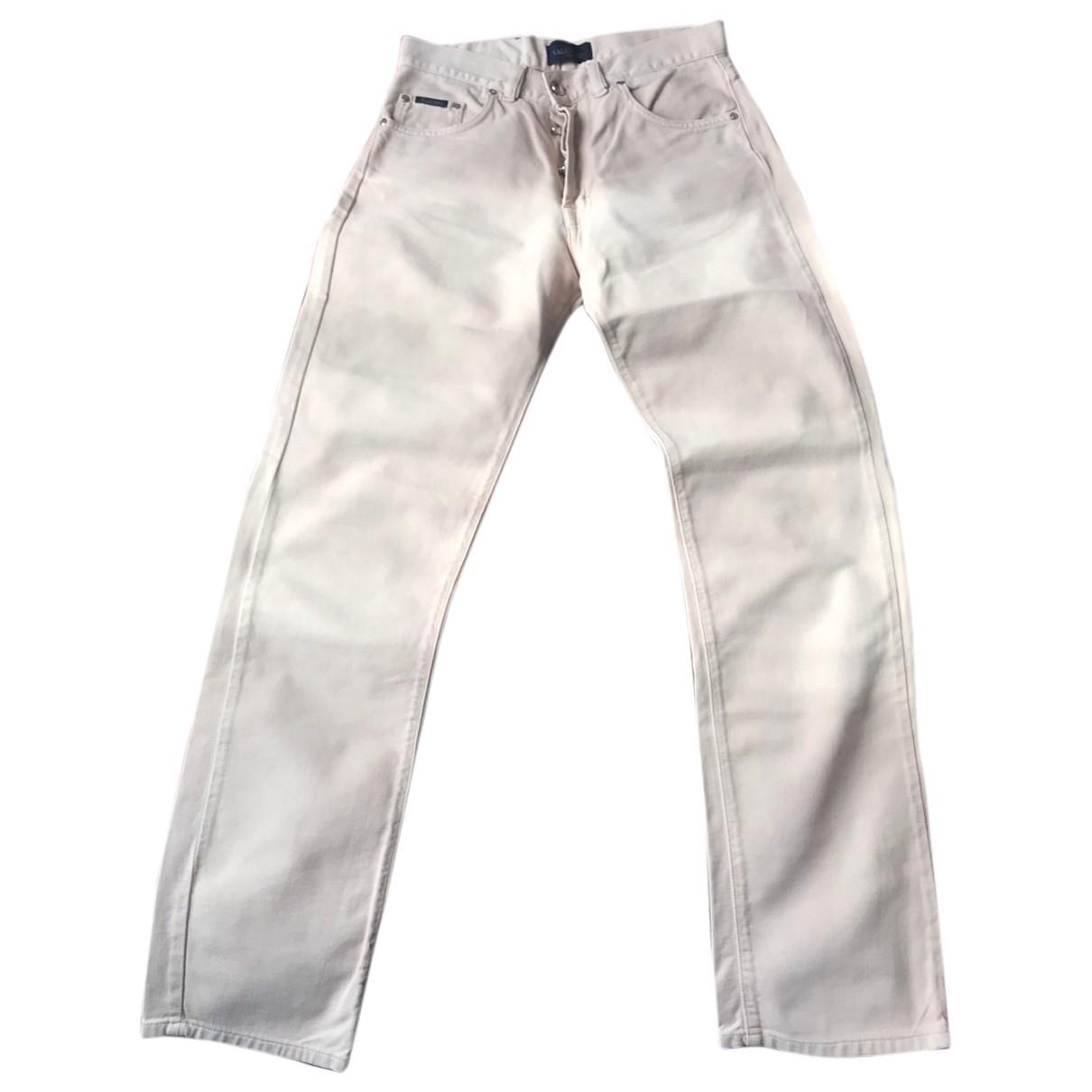 Non Signé / Unsigned \N Beige Cotton Jeans for Men 31 US