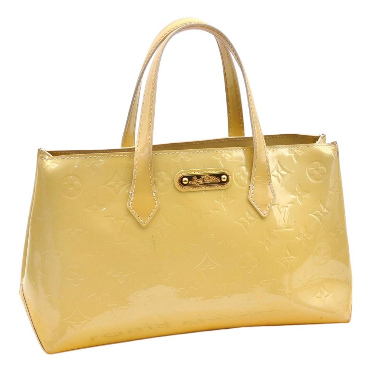 Louis Vuitton \N Yellow Patent leather handbag for Women \N