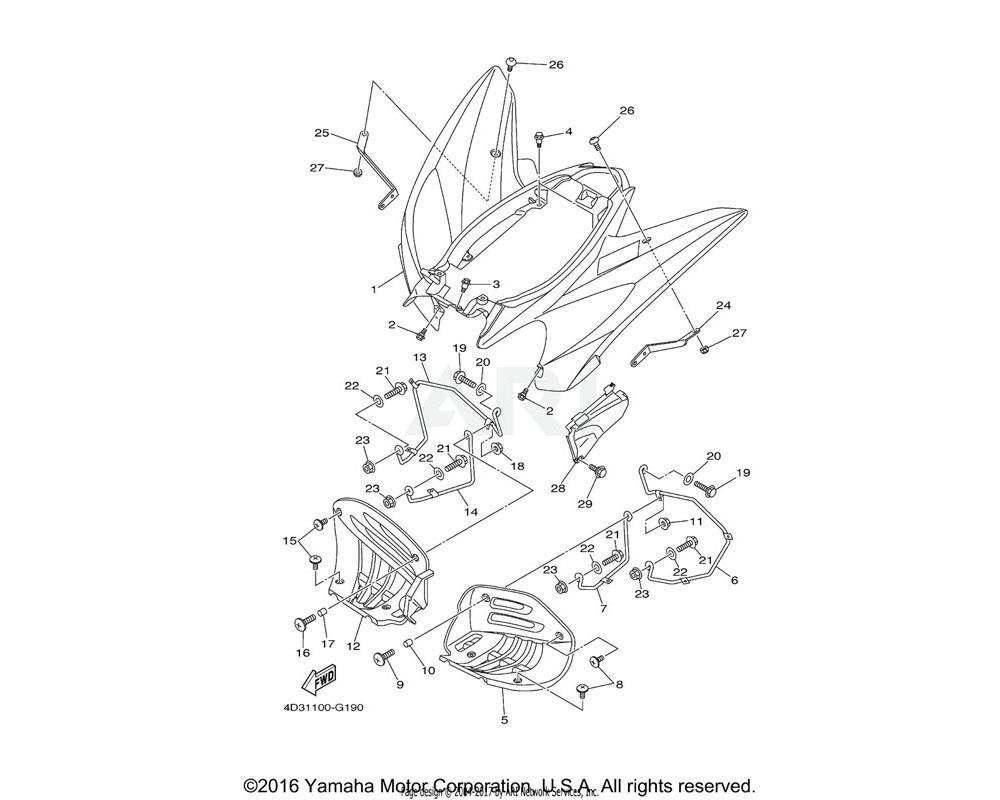 Yamaha OEM 4D3-21613-00-00 STAY, FENDER 1