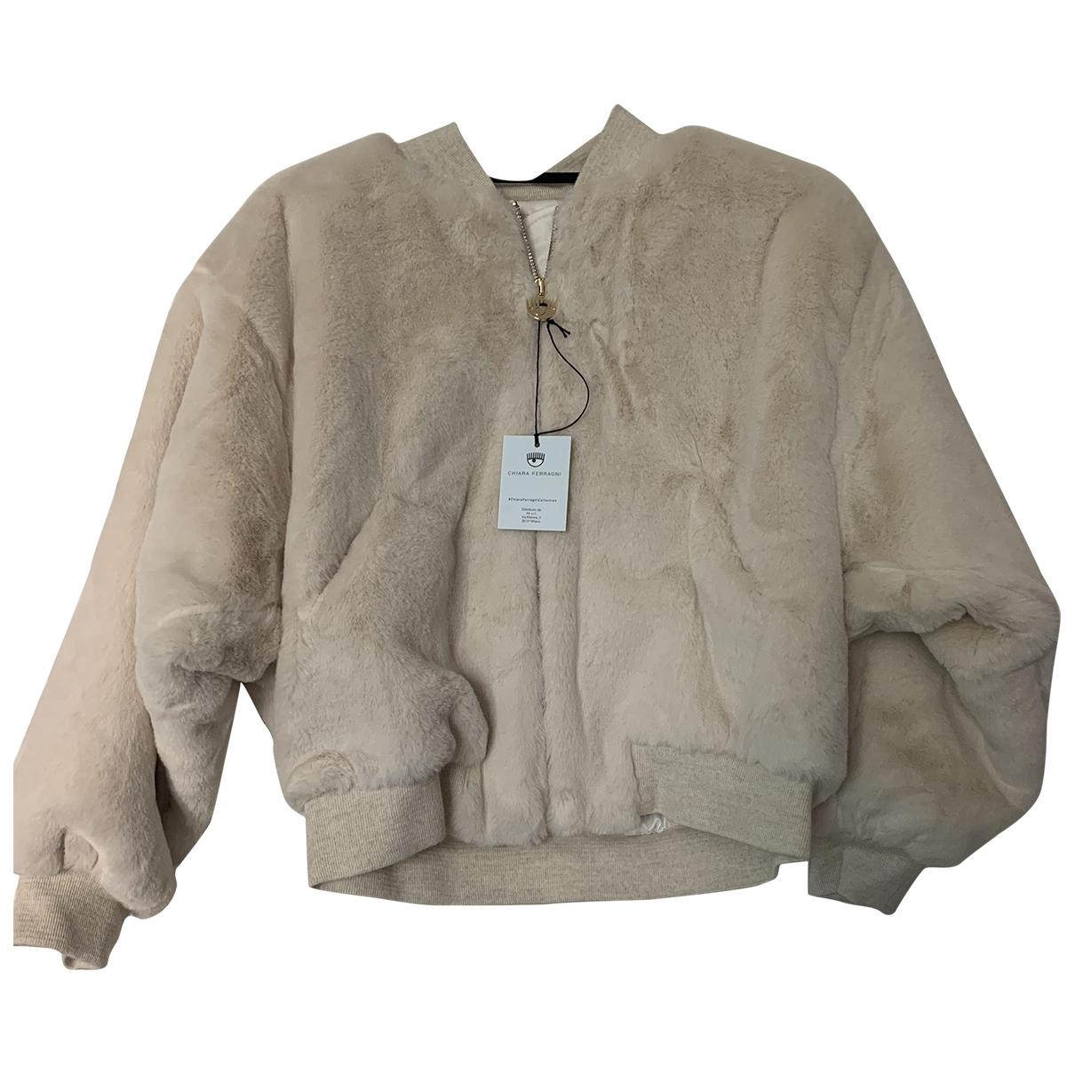 Chiara Ferragni \N White Faux fur coat for Women 40 IT