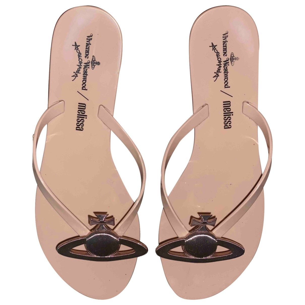 Vivienne Westwood Anglomania \N Beige Rubber Sandals for Women 40 EU