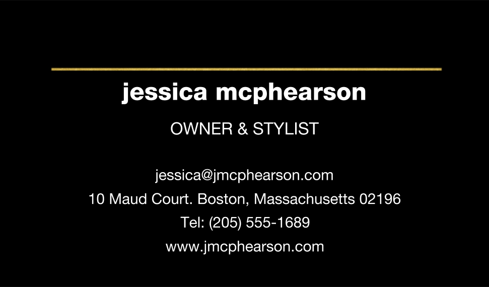 Modern Business Cards, Set of 40, Card & Stationery -Chic Gold