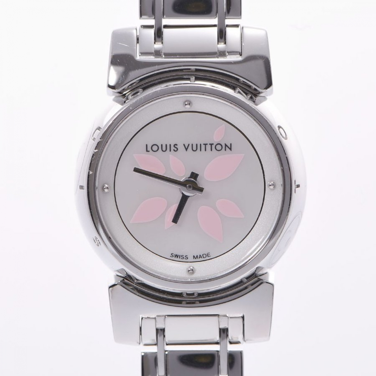 Louis Vuitton Tambour Beige Steel watch for Women \N