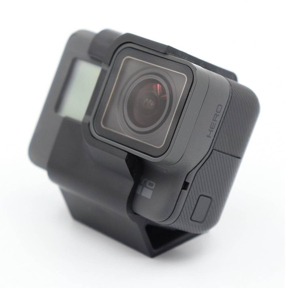 Reptile TPU Action Sport Camera Mount 30 Degree Inclined FPV Camera Holder For Gopro 5/6/7 FPV Racing Drone - Black