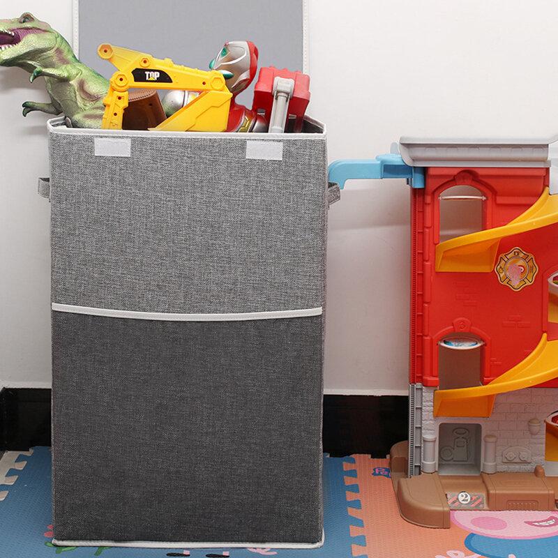 Cotton And Linen Dirty Clothes Basket Folding Clothes Storage Box Home Debris Cloth Storage Bucket Toy Storage Box