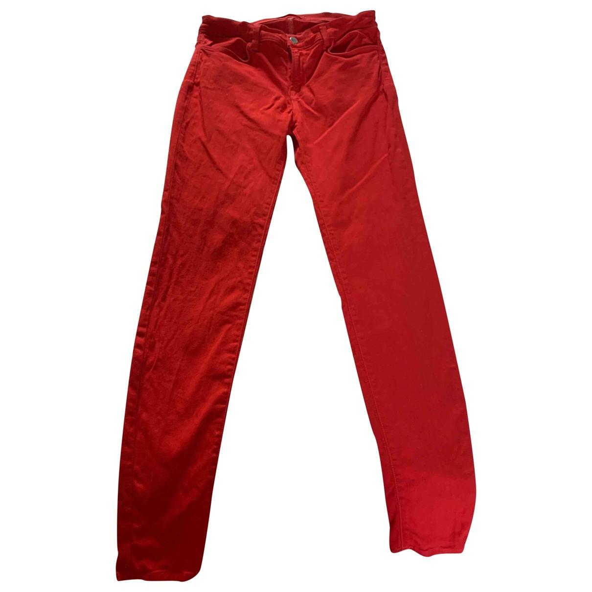 J Brand \N Red Denim - Jeans Jeans for Women 29 US