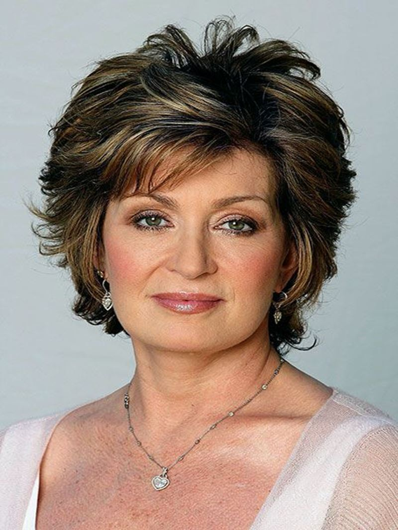 Ericdress Layered Synthetic Hair Short Wavy 8 Inches Capless Wigs for Older Women