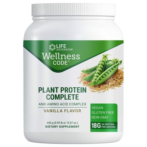Plant Protein Complete and Amino Acid Complex Vanilla 450 Grams by Life Extension