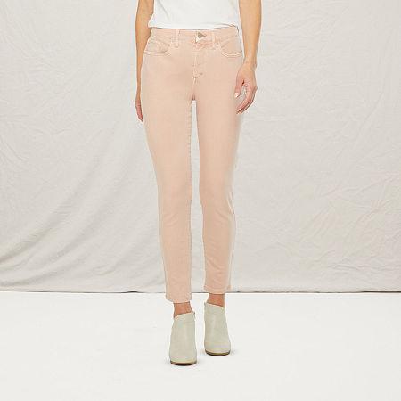 a.n.a Womens High Rise Skinny Ankle Jean, 18 , Pink