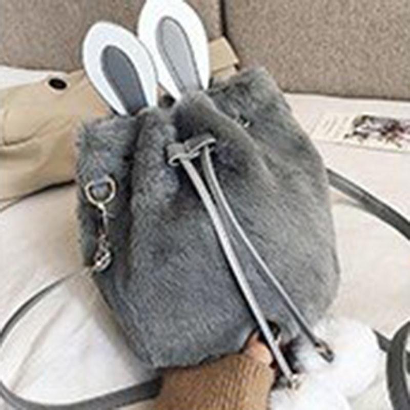 Ericdress Thread Plain Barrel-Shaped Crossbody Bags