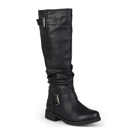 Journee Collection Womens Stormy Wide Calf Riding Boots, 10 Medium, Black