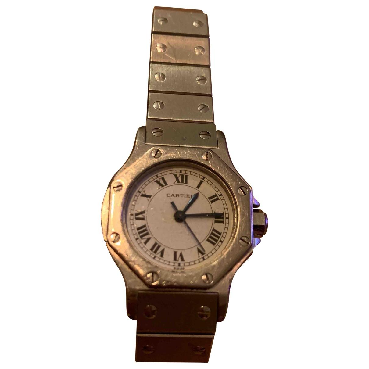 Cartier Santos Ronde Silver Steel watch for Women \N
