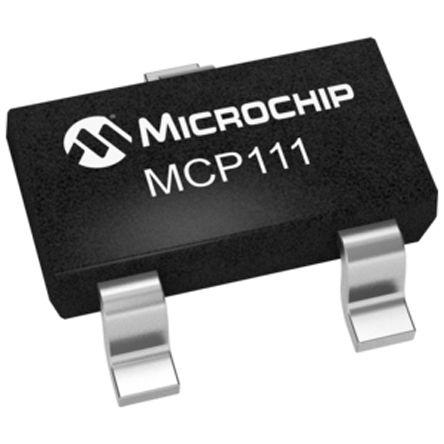 Microchip MCP111T-290E/TT, Voltage Supervisor 2.9V 3-Pin, SOT-23 (10)
