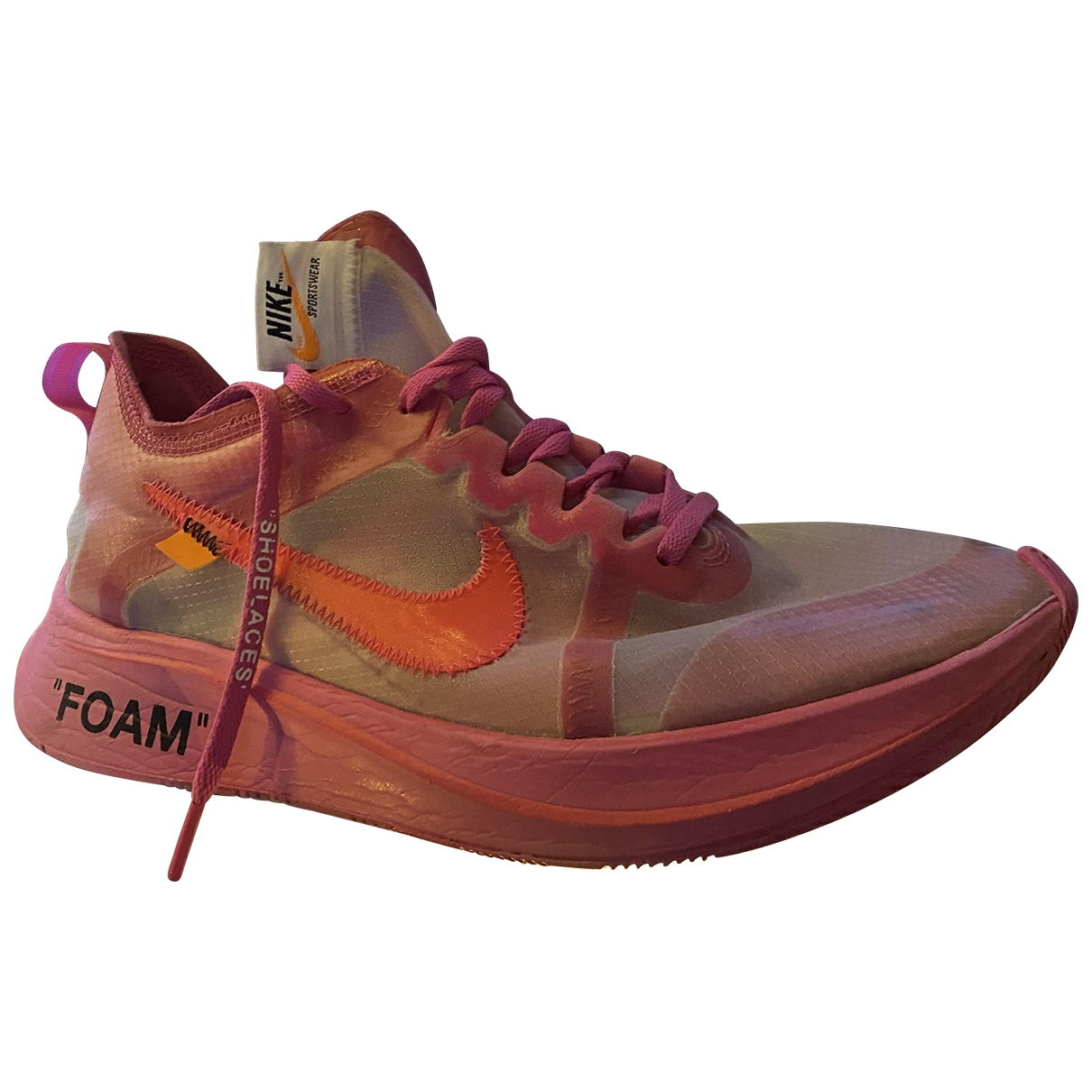 Nike X Off-white Zoom Fly Pink Cloth Trainers for Men 42.5 EU