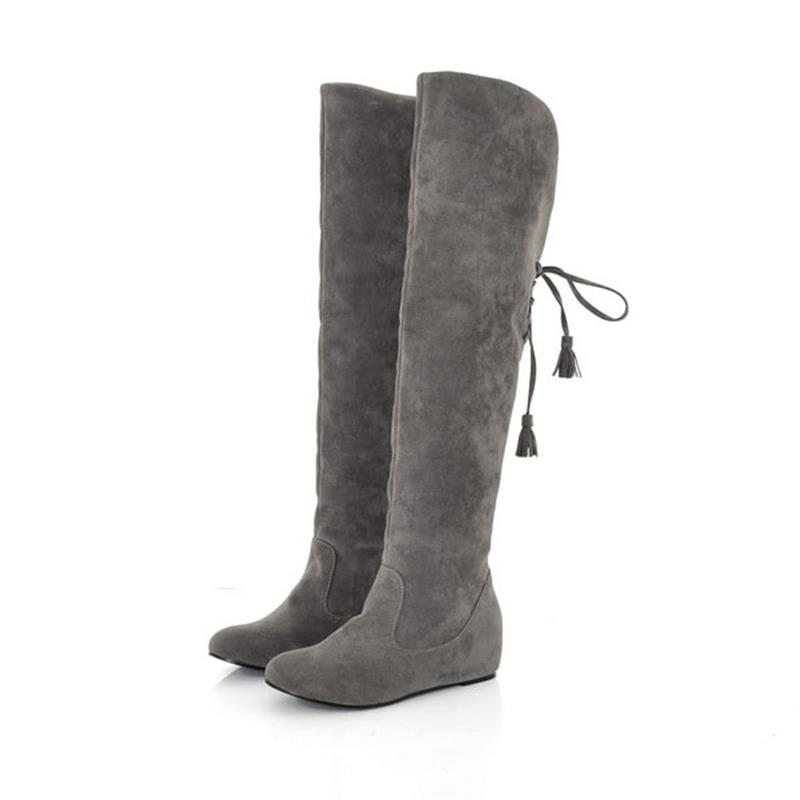 Ericdress Pretty Knee High Boots with Tassels