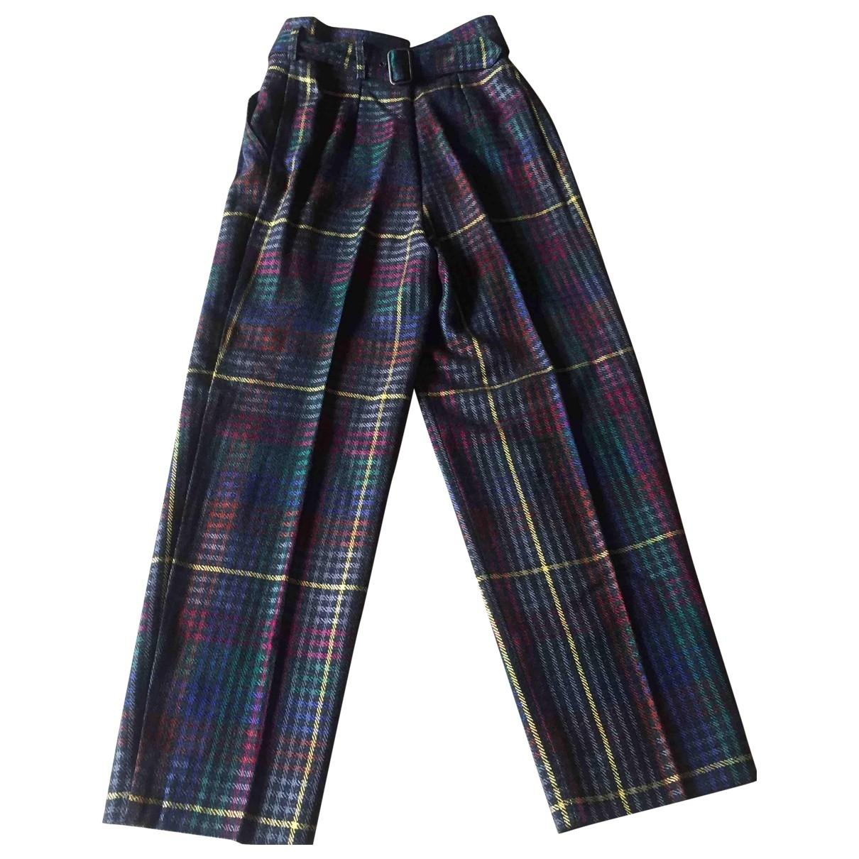 Sport Max \N Wool Trousers for Women 44 IT