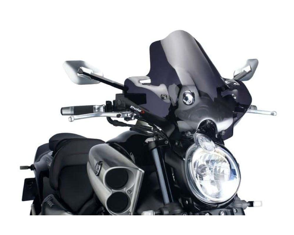 Puig 4952F Naked New Gen Sport Windscreen - Dark Smoke Yamaha V-Max 2009