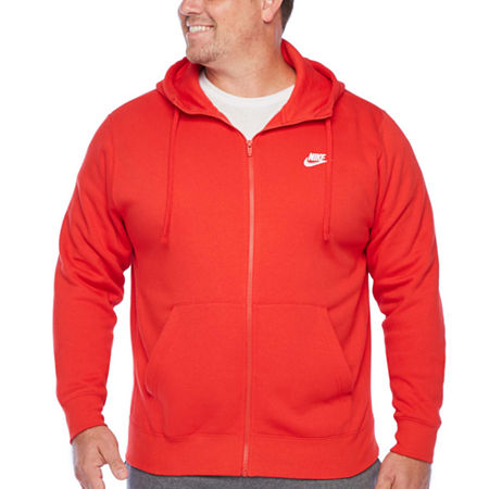Nike-Big and Tall Mens Long Sleeve Hoodie, 3x-large , Red