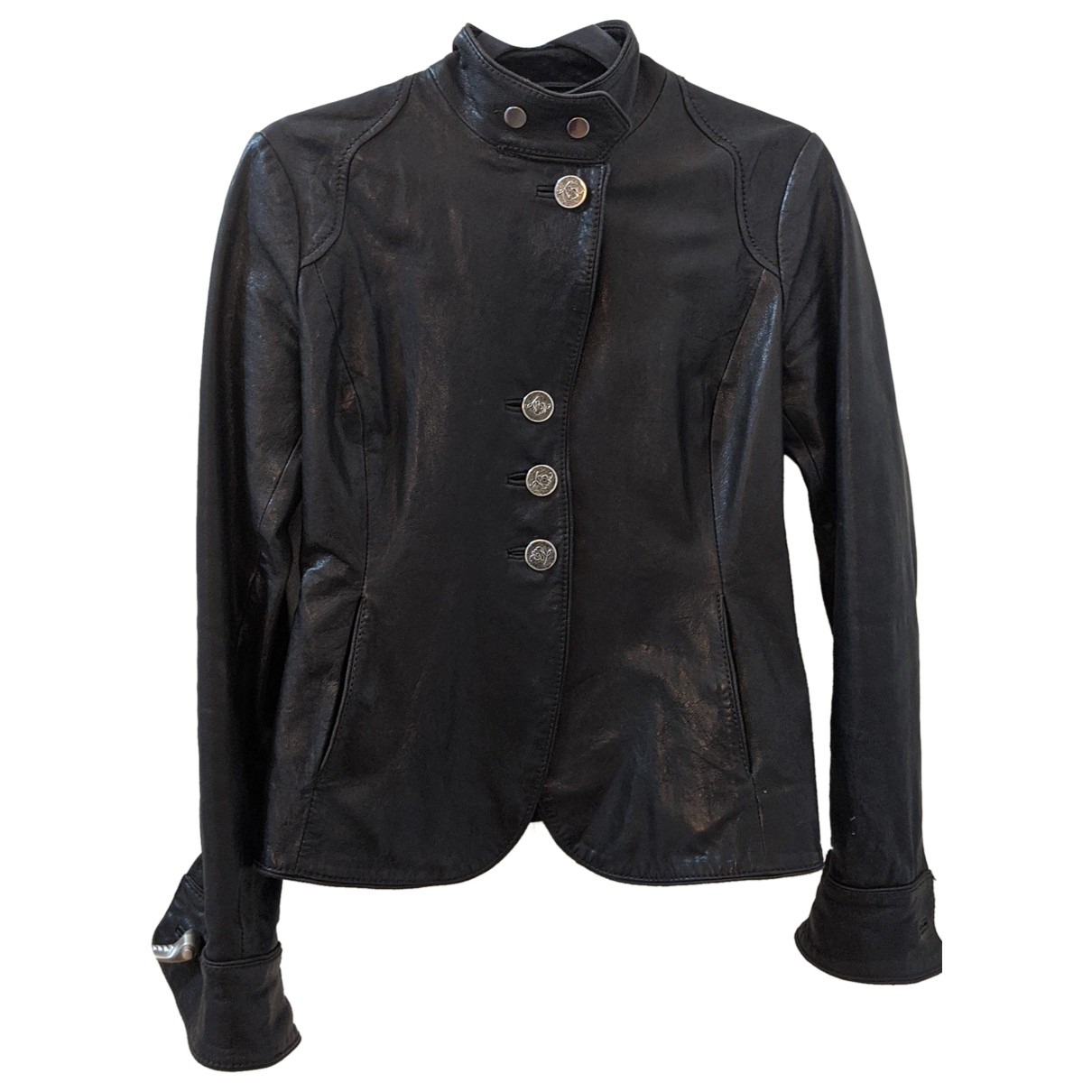 Emporio Armani \N Brown Leather Leather jacket for Women 6 UK