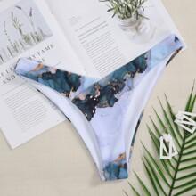 Water Color High Cut Bikini Panty