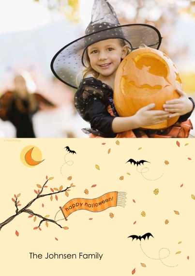 Halloween Photo Cards 5x7 Cards, Standard Cardstock 85lb, Card & Stationery -happy halloween!