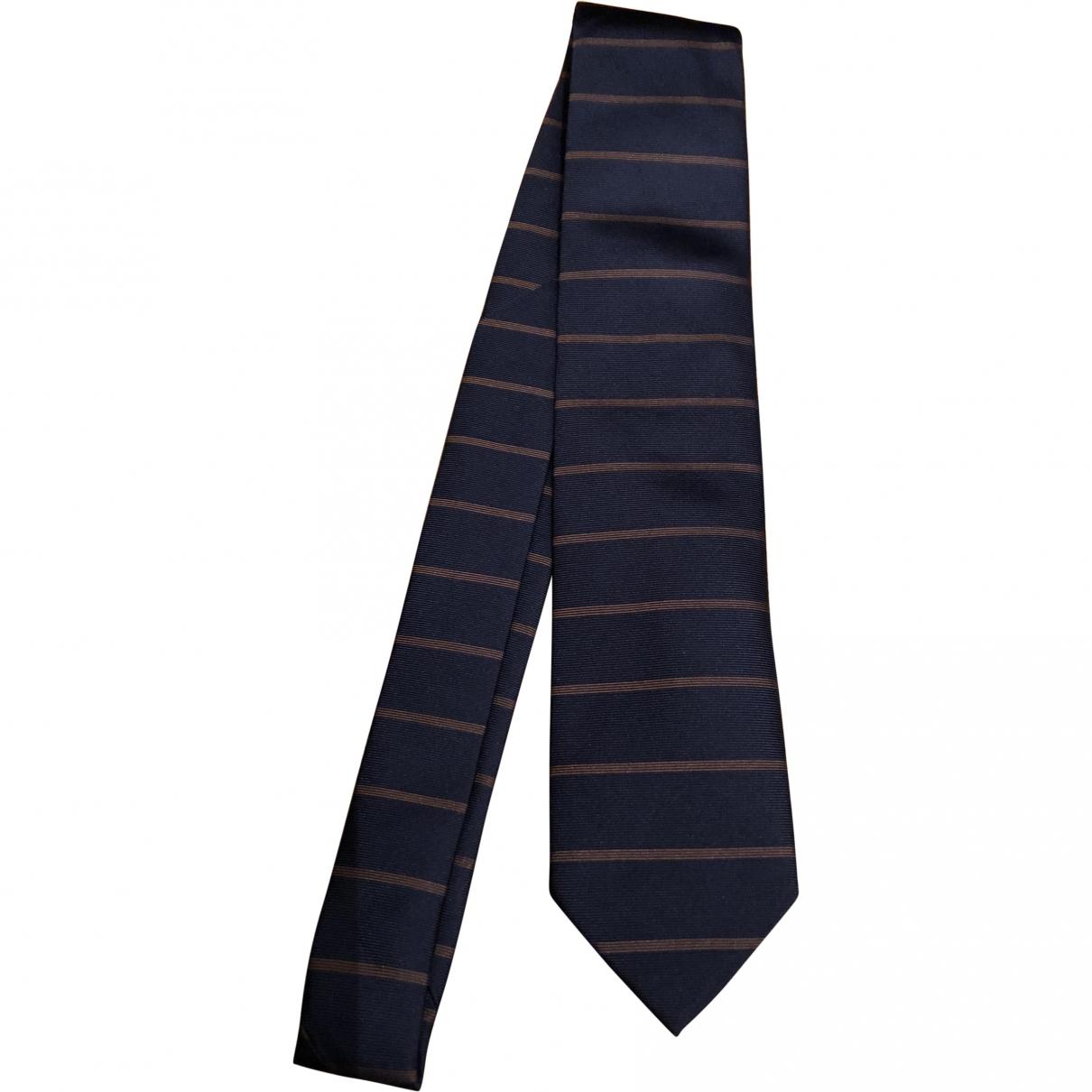 Arfango \N Blue Silk Ties for Men \N