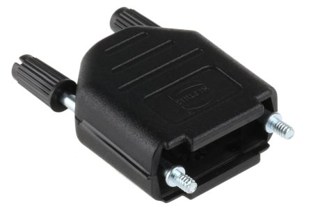 HARTING , D-sub Thermoplastic D-sub Connector Backshell, 9 Way, Black (5)