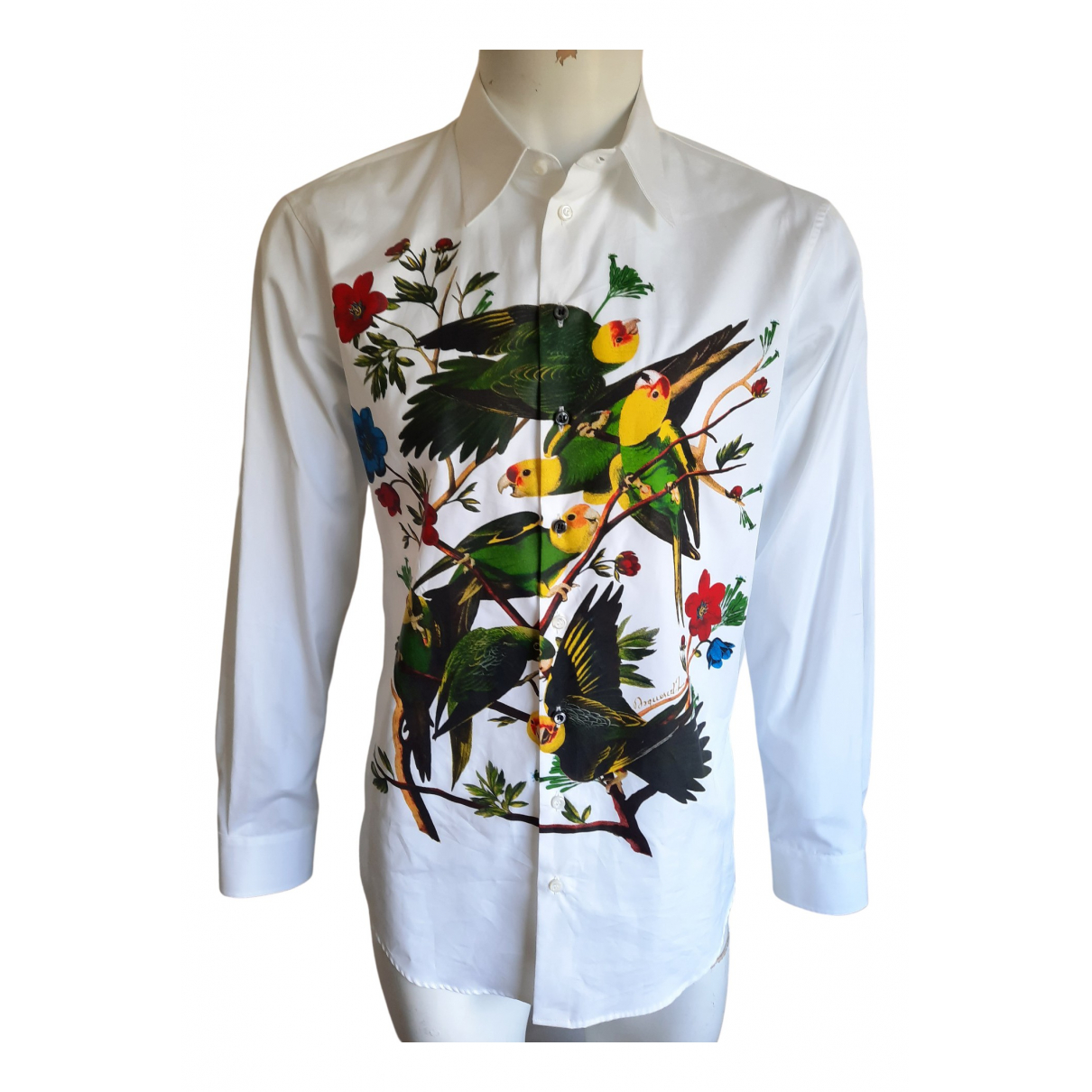 Dsquared2 \N White Cotton Shirts for Men M International