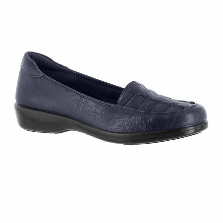 Easy Street Womens Genesis Slip-On Shoe, 12 Medium, Blue