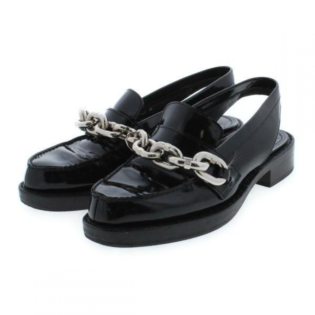 Louis Vuitton \N Black Patent leather Flats for Women 35 IT