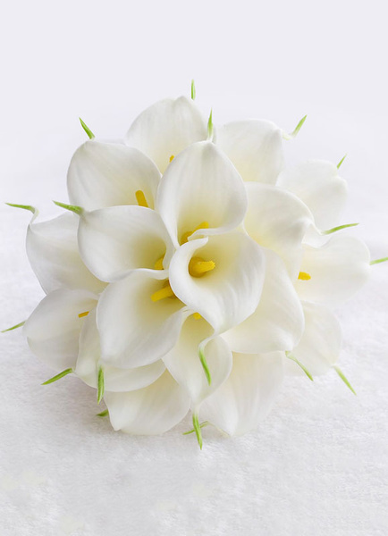 Milanoo Wedding Flowers Bouquet Rhinestones Pearls Beaded Ribbons Bow Hand Tied Silk Flowers Bridal Bouquet In White