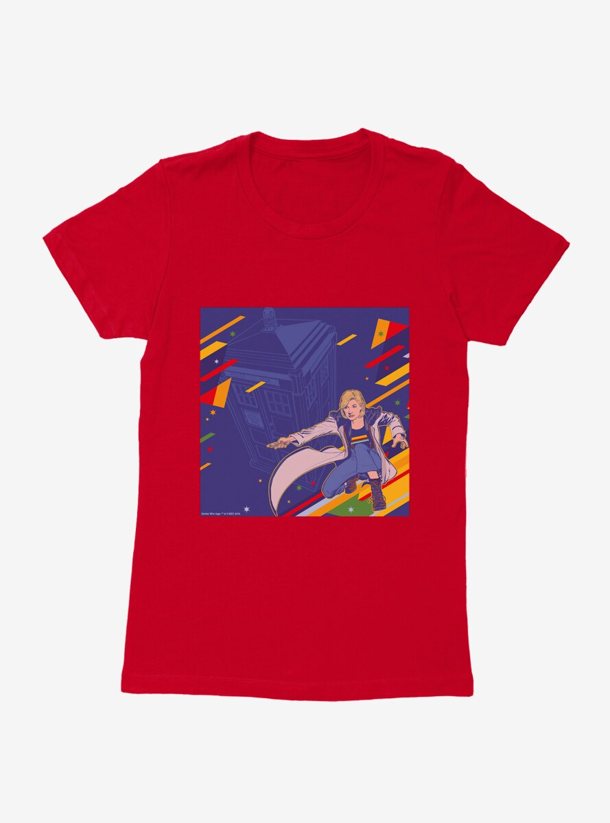 Doctor Who The Thirteenth Doctor Retro Art Womens T-Shirt