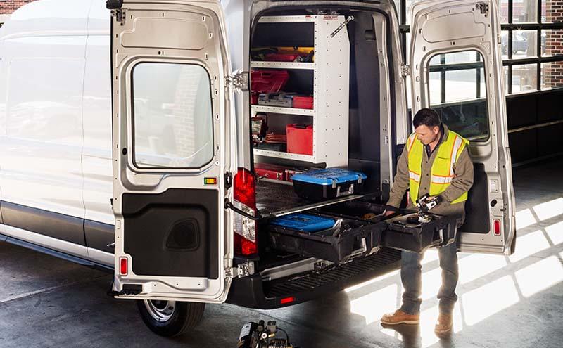 Decked Cargo Van Storage System 14-Pres Ford Transit 130 Inch