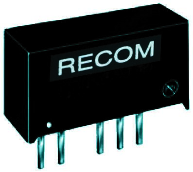 Recom RB 1W Isolated DC-DC Converter Through Hole, Voltage in 4.5 → 5.5 V dc, Voltage out 5V dc