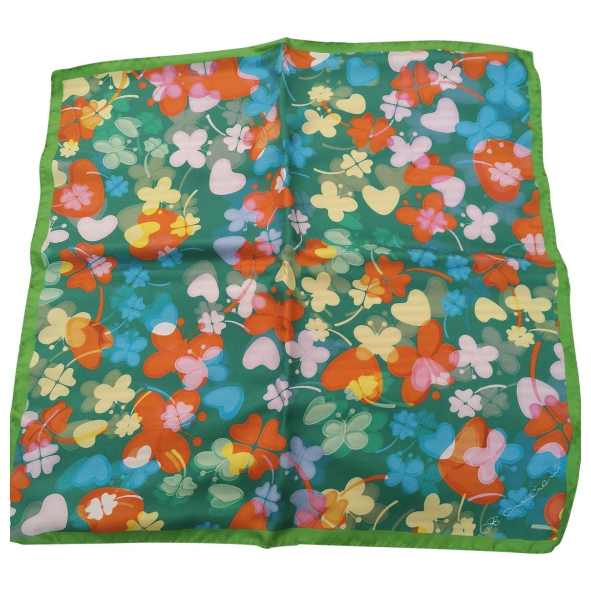 Cruciani \N Green Silk scarf for Women \N