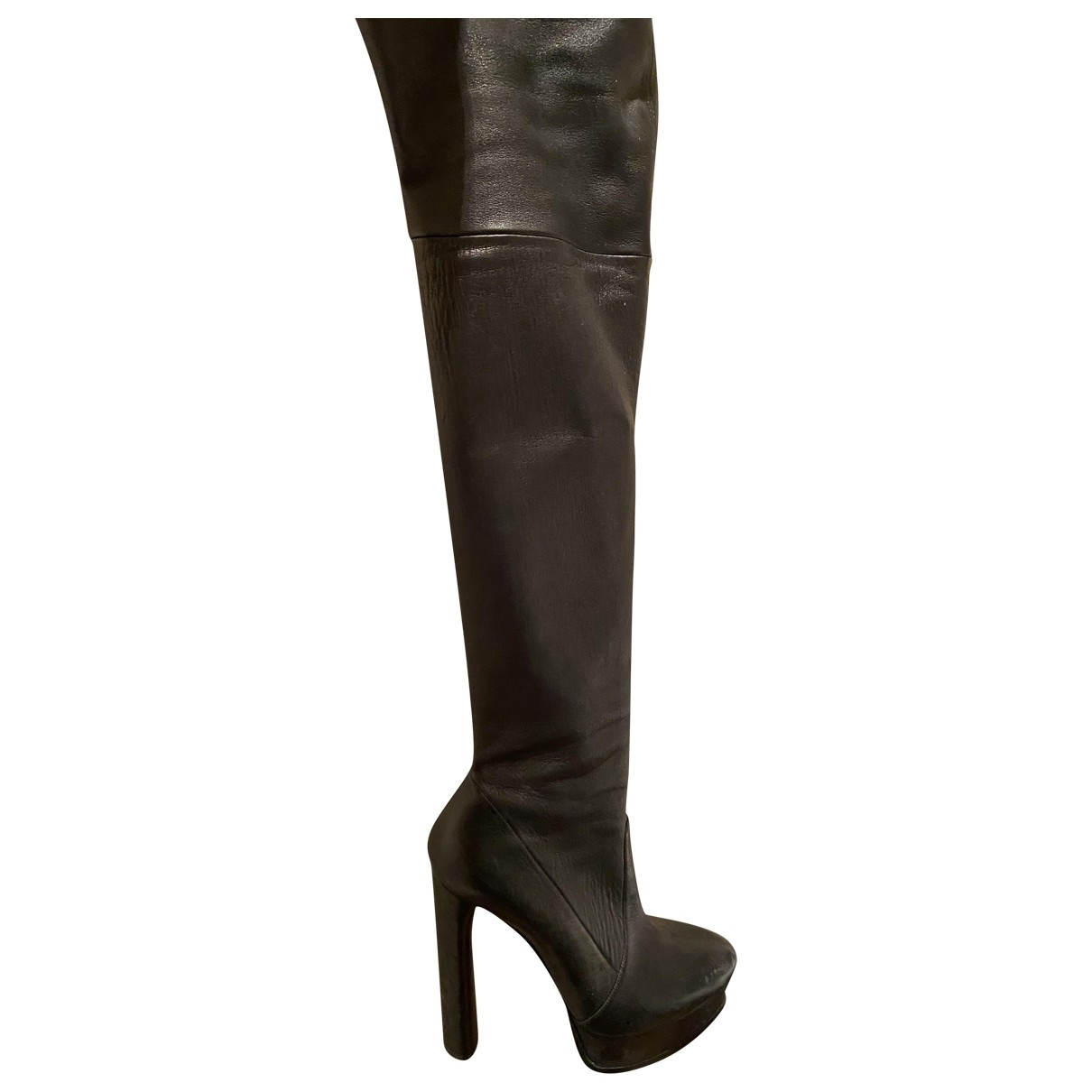 Casadei \N Black Leather Boots for Women 40 EU