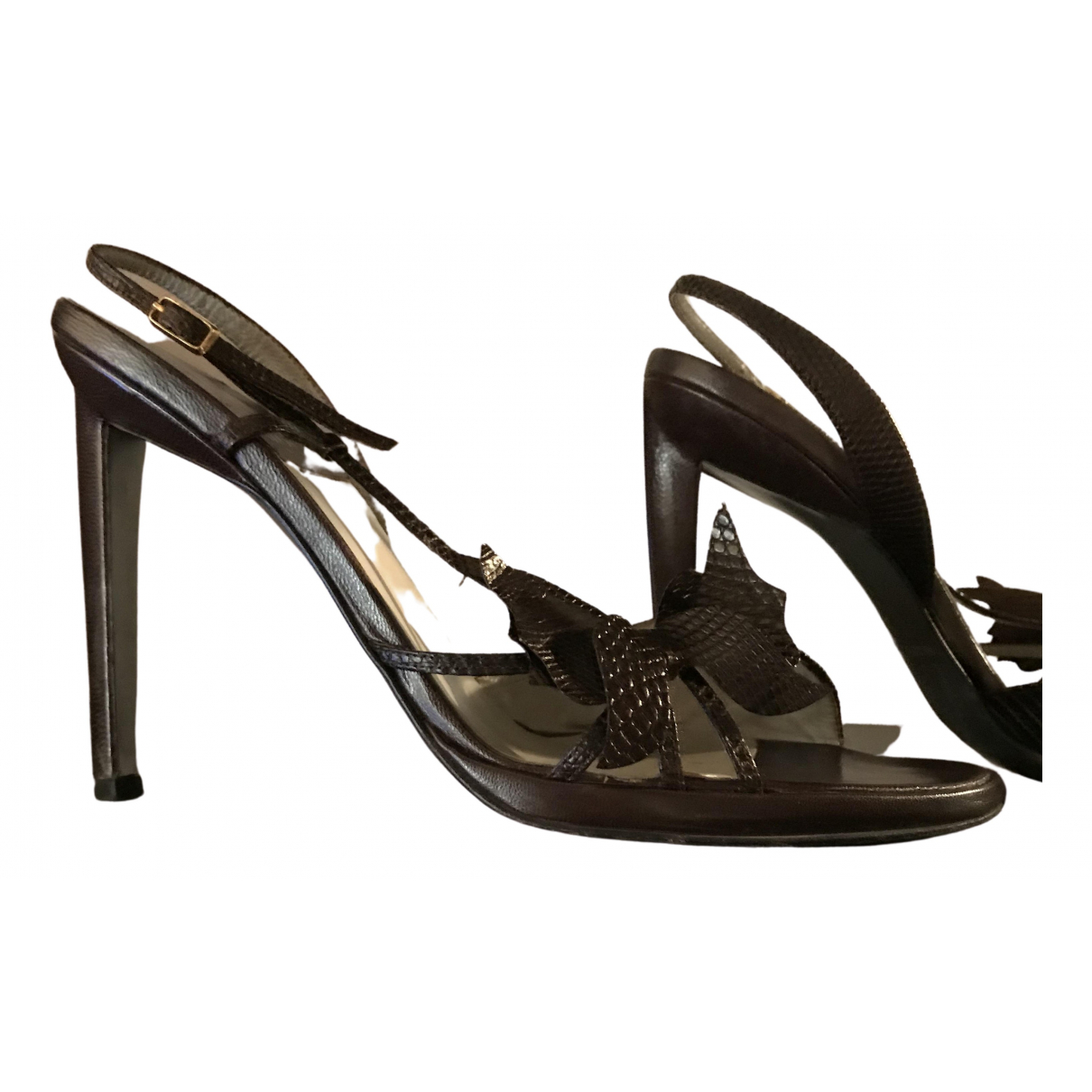 Rodolphe Menudier \N Brown Leather Sandals for Women 37 IT