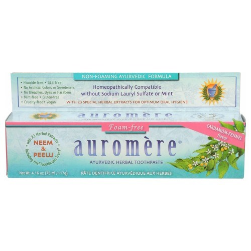 Ayurvedic Toothpaste Non-foaming Sls Free 4.16 Oz by Auromere