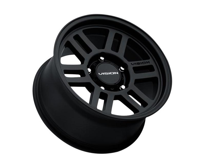 Vision Wheels 355-6663SB45 M2 Overland Wheel 16x6.5 6x1300 45 BKMTXX Satin Black