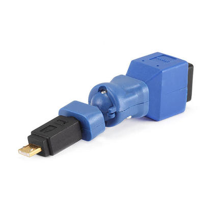 USB 3.0 B Female to USB 2.0 Micro A Type Male Swivel Adapter, Gold Plated - Monoprice®