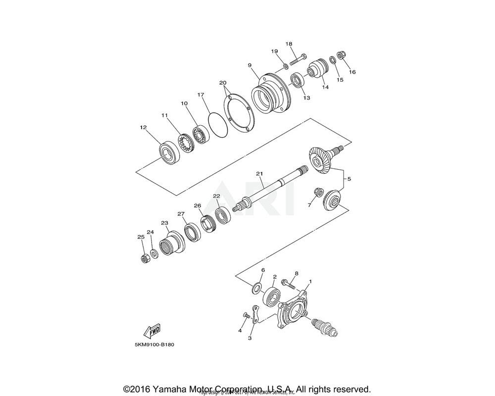 Yamaha OEM 4KB-17531-40-00 SHIM, PINION (0.40T) | UR