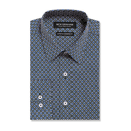 Graham And Co Long Sleeve Dress Shirt - Fitted, 15-15.5 32-33, Blue